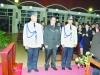 Os noivos, sub-comissário Luis Alberto, Jonni e sub-comissário Gesner