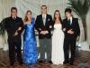 Thieli e Rodrigo com a família da noiva, Gilbert Gisler e Deise e o irmão Carlos Guilherme