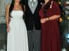 Thieli e Rodrigo com a mãe do noivo, Lurdes Arce Silveira