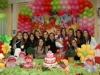 Marjana, Giana, Carol, Tuani, Thais, Mariana, Tatiana, Chiara, Cyanne, Samira, Carol, Bibiana e Mailena