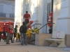 Guarnições chegaram à Escola Rivadávia Corrêa por volta das 16h, com sirenes ligadas e com equipamentos para resgate e combate a incêndio