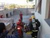 Corpo de Bombeiros realiza simulado de incêndio com evacuação de prédio