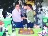 O aniversariante com Vilmar e a dinda Verinha