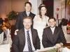 Os noivos Romulo e Ana com Fabrício e Lucas Zamberlan