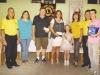 Os premiados com o casal Márcia e Ronei Machado