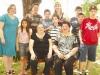 Elisa Caldas com a amiga Ruth Vasques e familiares