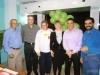 Laudelino Har, Henrique, Deodoro Lemes, Martha Pujol, Heber Har e o secretário da Saúde, Valmir Silveira