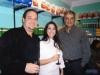 Mário e Raiska Santana com o empresário