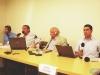 Marcelo Pinto, Henrique Bachio, Hugo Madrid e Jorge Flores: equipe completa da Rádio RCC e Jornal A Plateia