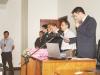 Juiz Frederico Menegaz durante a leitura da sentença que condenou Edson Reina a 21 anos de prisão