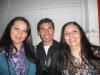 Disfrutando la velada, Casia Macarena Cuña, el bailarín Fabio Vargas y Silvia Valdivieso.