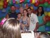 O Aniversariante juntamente com seus pais e padrinhos