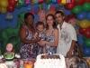 O Aniversariante com a avó Gladis e os pais Sabrina e Rodolfo