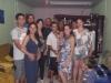 O Aniversariante junto com seus dindos, Mateus e Verginia, Carlos e Edinéia, Gerardo e Suzana, Adilson e Edna