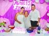 Ingrid com a avó Edila Machado e o tio Carlos