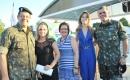 Oficial André Leite e Aline Brites, Glaucia Pereira Costa, Beatriz e tenente-coronel Guina