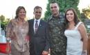 Cyntya Estecker, Luis D'Avila, tenente-coronel Rizzo Ribeiro e Claudia
