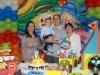 Bruno com os pais e a vó Sônia
