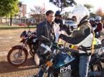 Antes de sair em procissão, motociclistas pediram a proteção de Nossa Senhora do Caravággio, cuja imagem foi carregada por Eduardo Fontoura (Chaveirinho)