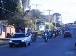 Motociclistas percorreram as ruas centrais da cidade